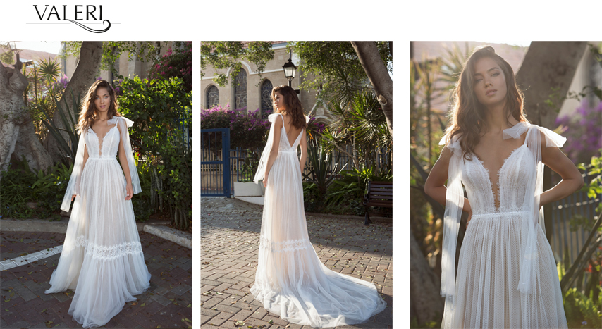 Wedding Dress with boho touch of style